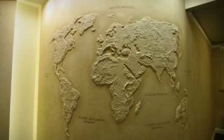 Декоративная штукатурка «Карта мира»
