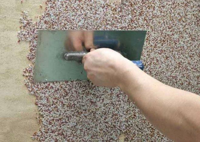 Технология нанесения камешковой штукатурки