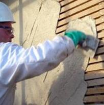 Стены, оббитые деревянными рейками