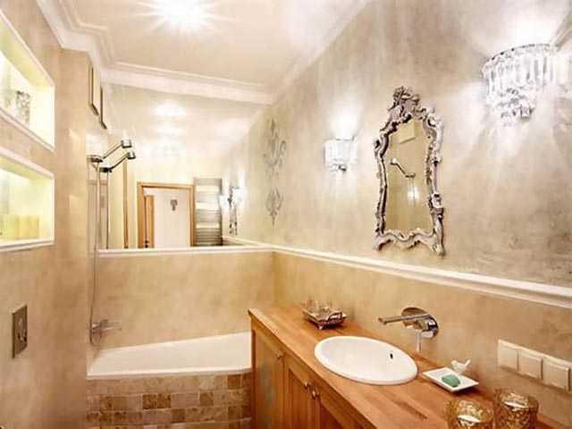 Оштукатуривание в ванной
