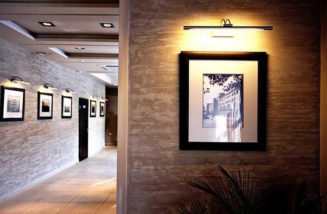 Фактурная штукатурка коридора