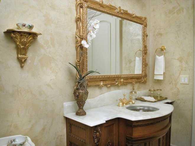 Оформление ванной комнаты с защитой от влаги синтетическим воском