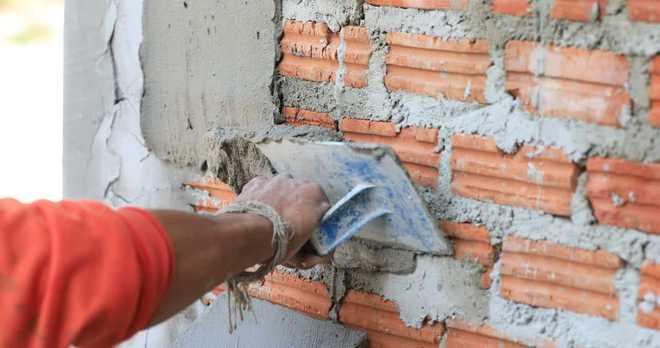 Оштукатуривание кирпичной поверхности цементным раствором павлово на оке купить бетон